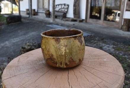 【B-15】眞名焼 抹茶茶碗(筒形)