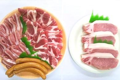5. ケンボロー芙蓉ポーク焼き肉セット&ロースステーキ肉【1P】