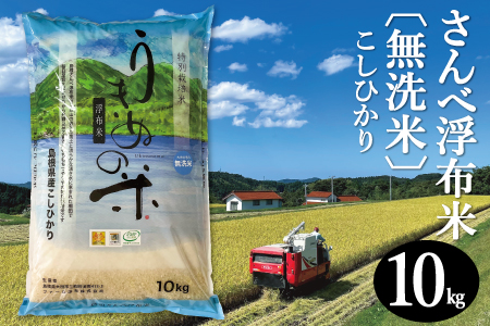 B027 さんべ浮布米(無洗米)10kg