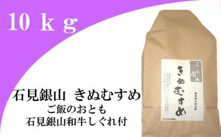B092 「きぬむすめ」(精米10kg)(平成29年産)とご飯のおとも「石見銀山和牛しぐれ」