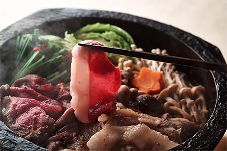 【2634-0017】おおち山くじら(イノシシ肉)味噌すき鍋セット 約2kg