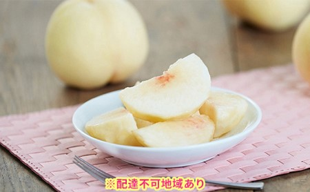 ご家庭用 岡山県産 白桃(晩生種)約1.5kg(5~6玉)【配達不可:離島】