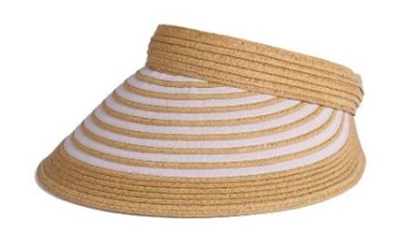 天然 クリップバイザー 婦人 帽子   ベージュ