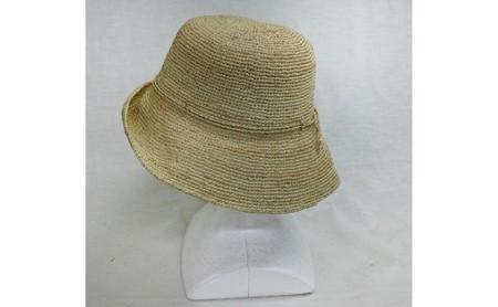 天然ラフィア 手編みクロッシェ帽子 ナチュラル