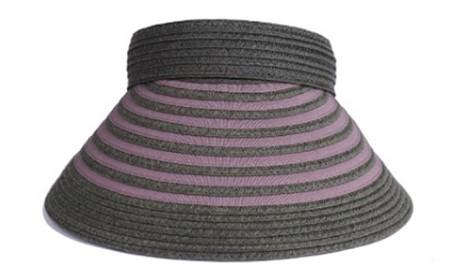 天然 クリップバイザー 婦人 帽子 カーキ