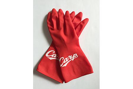 【2604-0033】 カープどーんと鯉ゴム手袋[Mサイズ]とカープコラボボールペン&シャープペンセット