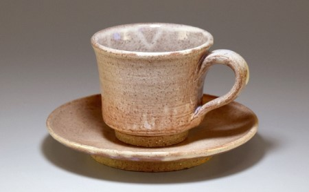 萩焼 コーヒーカップ(朝顔)
