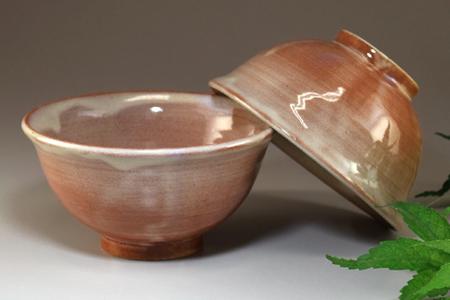 萩焼 夫婦ごはん茶碗
