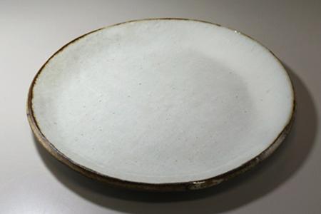 萩焼 皮くじら丸皿