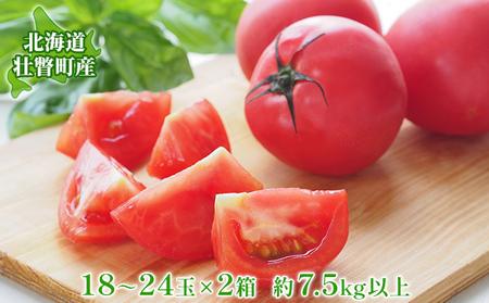 <2021年6月上旬からお届け>約8kg!北海道壮瞥町「FARM K」の美味しい完熟トマト(約4kg×2箱)