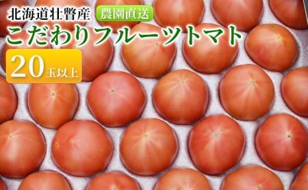 <2020年6月下旬よりお届け>北海道壮瞥産 こだわりフルーツトマト 20玉以上