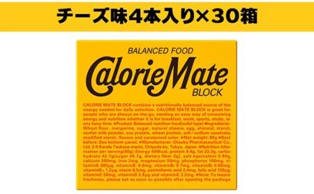カロリーメイト ブロック チーズ味4本入り×30箱 栄養補給 エネルギー補給 防災 備蓄品