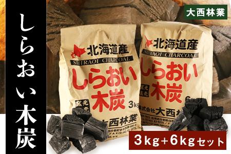 【2631-0020】【限定20セット】【北海道産】しらおい木炭 9kgセット (バラ炭)