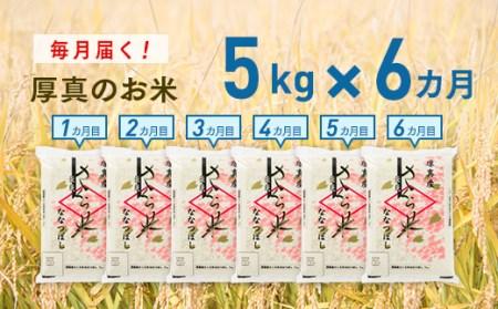 0079 6ヵ月!毎月届く定期便「厚真のお米」5kg