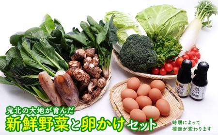 新鮮野菜と卵かけセット