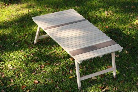 土佐ひのきの折りたたみ キャンプテーブル KUROSON370