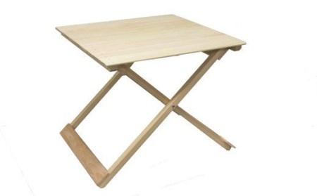 21-257.国産 四万十ひのき使用『ヒノキの折りたたみテーブル』
