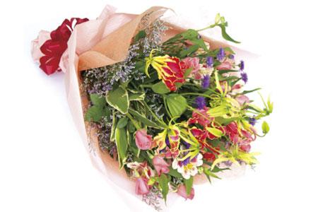 A-33 暮らしに花とみどりを届ける野市グリーンの花束
