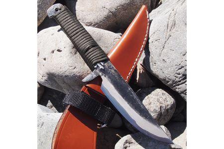 土佐打刃物 アウトドアナイフ 黒打ちロープ巻10cm