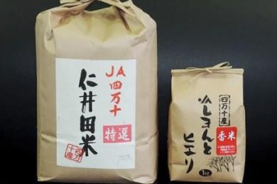 G-09 新米 28年度仁井田米 味くらべ4回毎月お届け便
