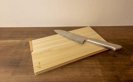 お料理が上質の癒し時間に!ふんわり香る四万十ひの木のスタンド付きまな板 Qsn-17