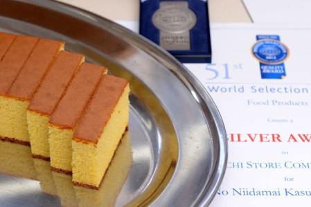 Bmu-18【龍馬の太鼓判】四万十育ちの美味しい「仁井田米」四万十の米粉カステラ「プレーン味」