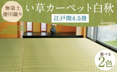無染土掛川織り い草カーペット 白秋 【江戸間4.5畳】約261cm×261cm