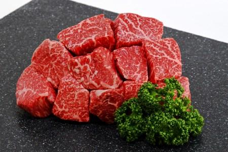 BD-022 【博多和牛】サイコロステーキランプ・イチボ500gステーキソース付