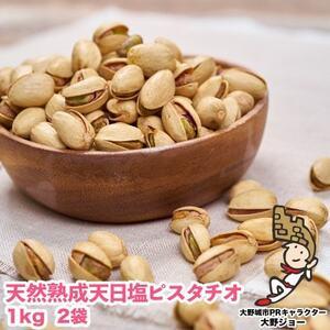 【大野城】天然熟成天日塩 ピスタチオ 2kg(1kg×2袋)【1081989】