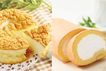 N3004【ロハスケーキセット】ホワイトガトーショコラ+(米粉)ロールケーキ