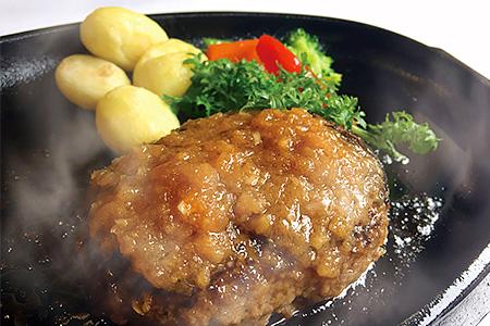 L1501 【手ごね国産牛ハンバーグ(6個)】「MAIN DINING -Ichi-」シェフの手ごね国産牛ハンバーグ(株式会社博多ふくいち)