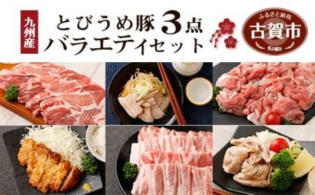 九州産 とびうめ豚 3点バラエティセット 1.5kg