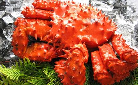 北海道産 ボイル花咲蟹(姿)400g×3尾