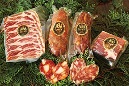 B381 イビサスモークレストラン 無添加熟成生ハム&スペイン式サラミセット