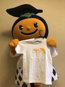 C927-10 うきぴー 子どもTシャツ (白) 100サイズ