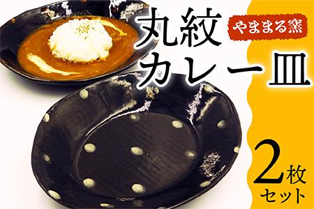 B1【やままる窯】丸紋カレー皿2枚セット