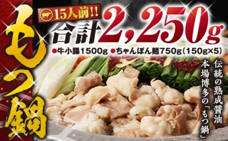 2Q7 博多もつ鍋(伝統の熟成醤油味)15人前