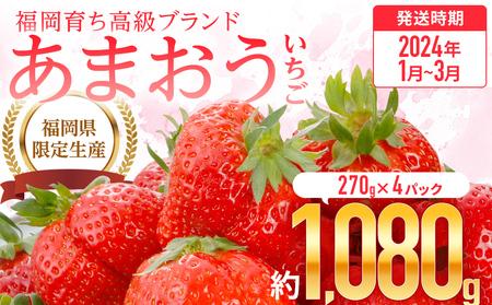 AR003・福岡育ち あまおういちご 約270g×4パック(2022年2~3月発送)