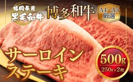 AZ006 A4A5厳選 博多和牛 サーロイン ステーキ 500g (250g×2枚)
