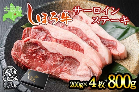 しほろ牛サーロインステーキ(4枚800g) 【S01】