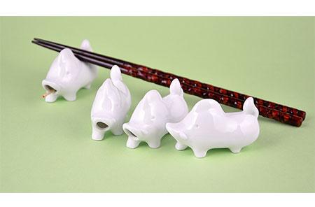 H370猪の箸置き4個セット(2019年干支・亥)