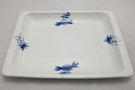 H389ブルーレースパン皿