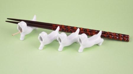 H464犬の箸置き4個セット