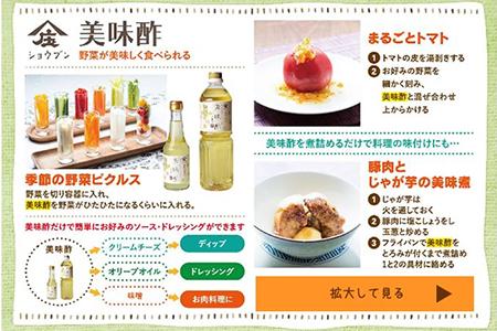 A5-19 気軽に健康習慣 お手軽にサッパリ美味しい料理酢2本セット