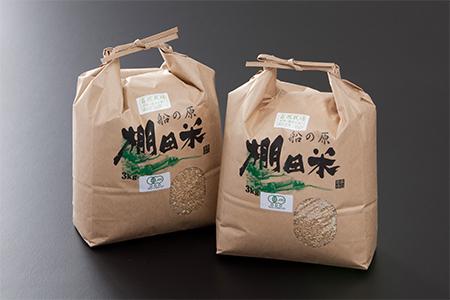B0-35 【無農薬・無肥料栽培】おいしい 有機玄米 6kg!!!