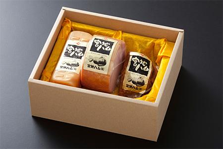 B0-38 【九州産豚肉使用】ロースハム詰合せ【やき豚ブロック】
