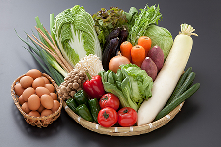 B0-14【九州産】採れたて野菜とこだわりの地卵のセット(野菜10~13品・卵20個)