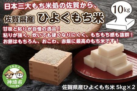 令和2年産 佐賀県産ひよくもち米10kg (H015117)