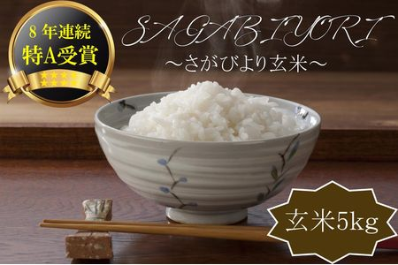 9A588-01【R元年収穫米】佐賀県産『さがびより(玄米5kg)』