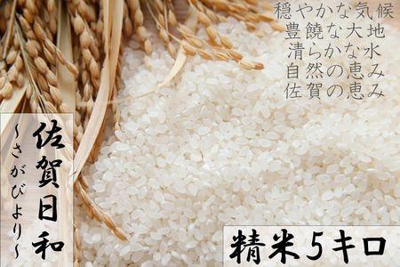 9A577 【H30年収穫米】佐賀県産『さがびより(精米5kg)』